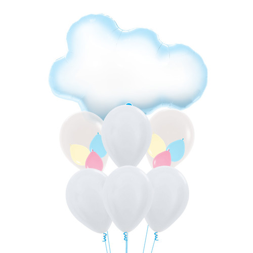 Puffy Cloud Pastel Balloons Bouquet