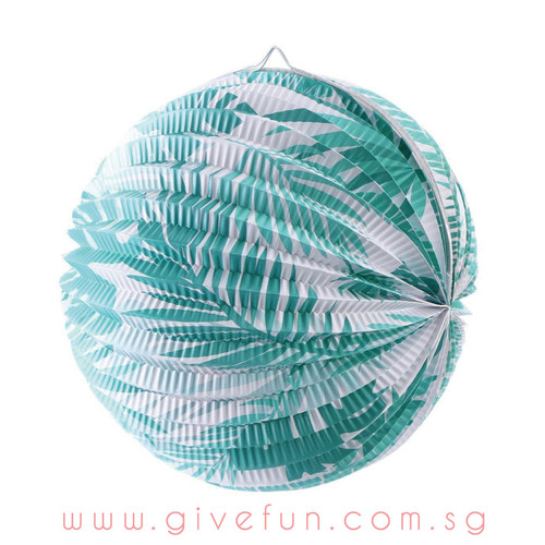 Tropical Palm Leaf Paper Lantern Ball