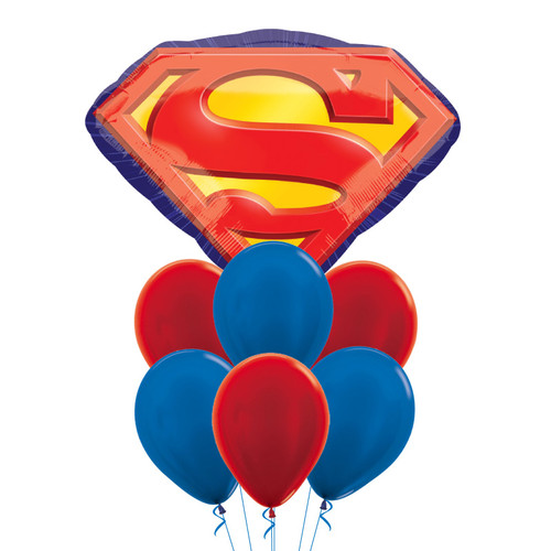 Superman Emblem Balloons Bouquet