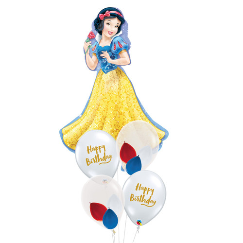 Princess Snow White Happy Birthday Balloons Bouquet