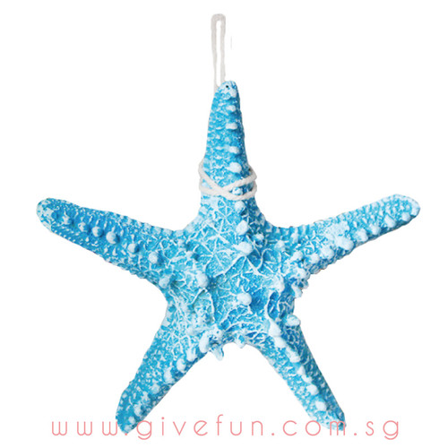 Decorative Knobby Starfish - Blue (16cm)