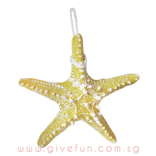 Decorative Knobby Starfish - Mustard (16cm)