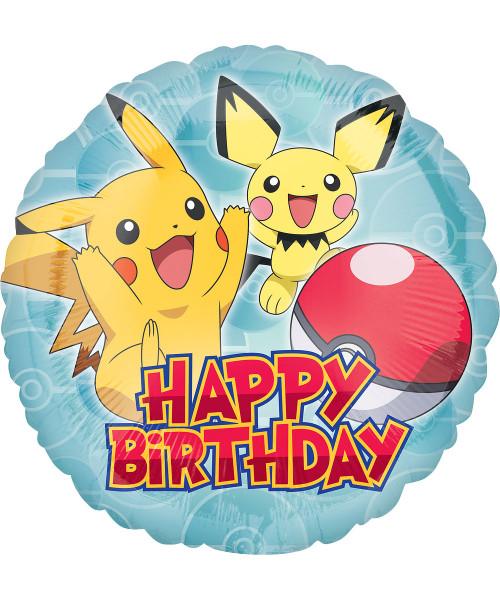 Pokemon Pokeball Happy Birthday Foil Balloon (18inch)