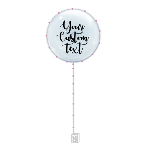 "24"" Personalised Confession Balloon 告白气球 with Pink LED Lights"