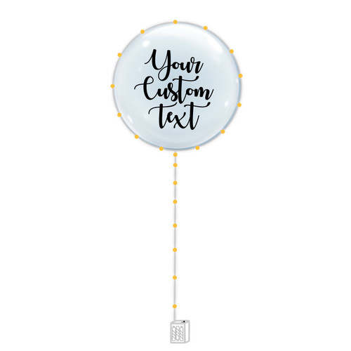 "24"" Personalised Confession Balloon 告白气球 with Warm White LED Lights"