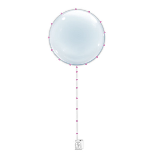 "22"" Confession Balloon 告白气球 with Pink LED Lights"