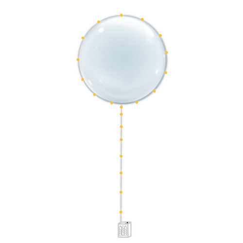"22"" Confession Balloon 告白气球 with Warm White LED Lights"