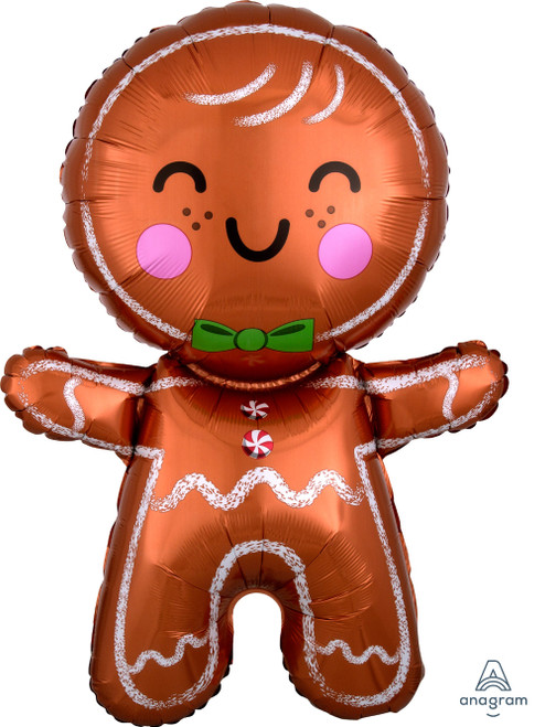 [Merry Christmas] Happy Gingerbread Man Foil Balloon (31inch)