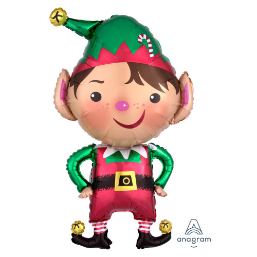 Jolly Christmas Elf Foil Balloon (35inch)