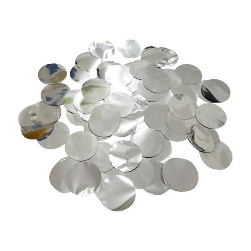 10gram Paper Round Confettis (2.5cm) - Metallic Silver