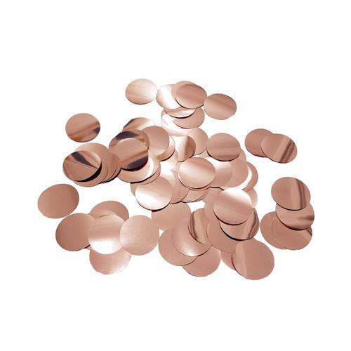 10gram Paper Round Confettis (2.5cm) - Metallic Rose Gold