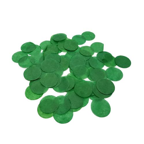 10gram Paper Round Confettis (2.5cm) - Forest Green