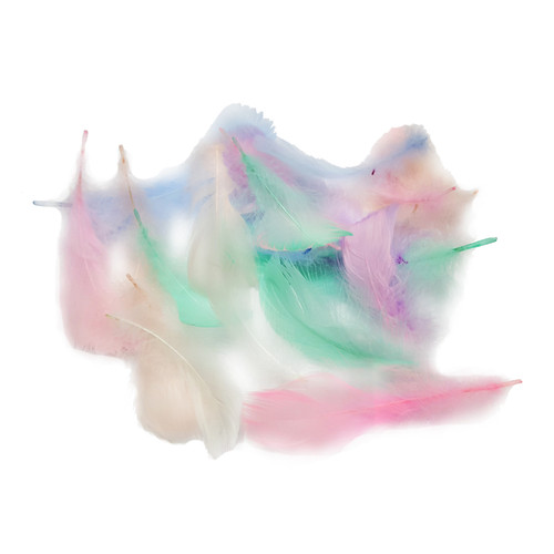 Decorative Feathers - Pastel Unicorn