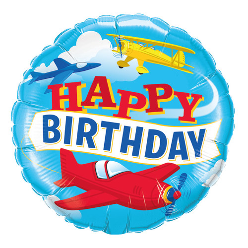 [Transportation] Birthday Airplanes Foil Balloon
