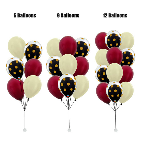 12'' Transparent Gold Polka Dots Balloon In A Balloon Cluster - Metallic Color