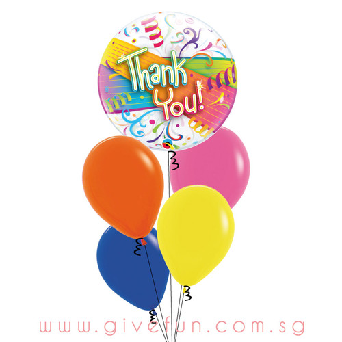 [Party] Thank You Bubble Balloons Bouquet