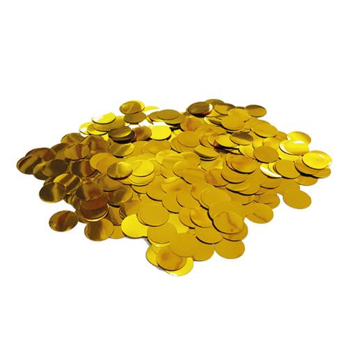 10gram Mini Paper Round Confettis (1cm) - Metallic Gold