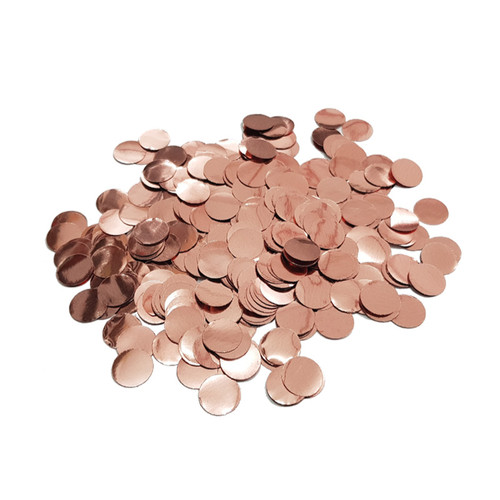 10gram Mini Paper Round Confettis (1cm) - Metallic Rose Gold