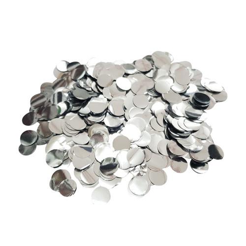 10gram Mini Paper Round Confettis (1cm) - Metallic Silver