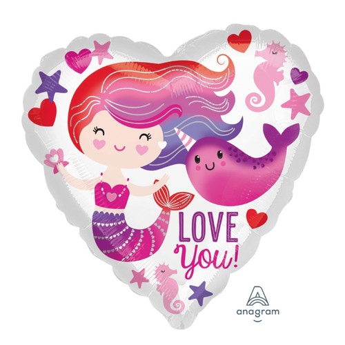 Mermaid & Narwhal Love Foil Balloon (18inch)