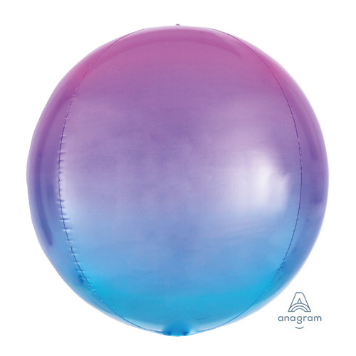 "16""/41cm Ombré Red & Blue Sphere Shaped Balloon"