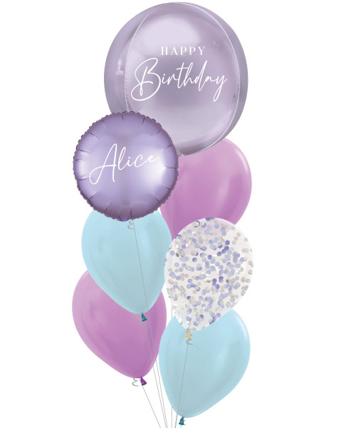 Personalised Oliver Orbz Balloons Bouquet - Mermaid