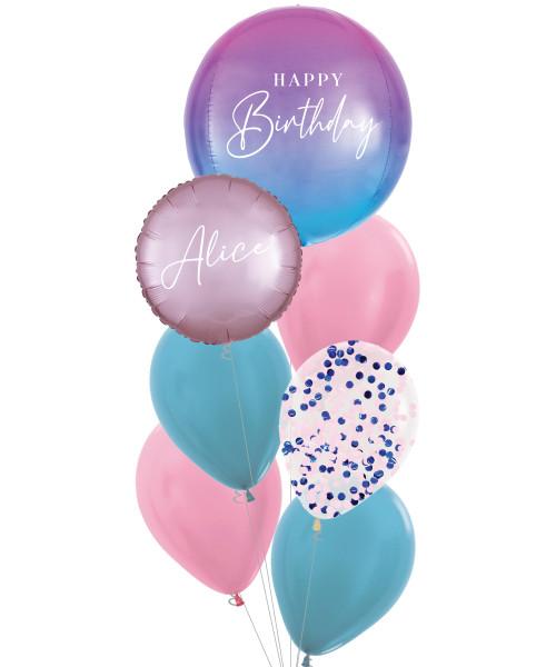 [Oliver Orbz] Personalised Oliver Orbz Balloons Bouquet - Ombré Paddle Pop