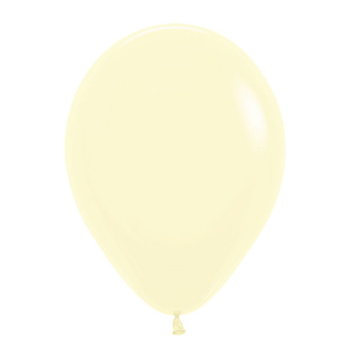 "18"" Macaron Pastel Matte Color Round Latex Balloon - Pastel Yellow"