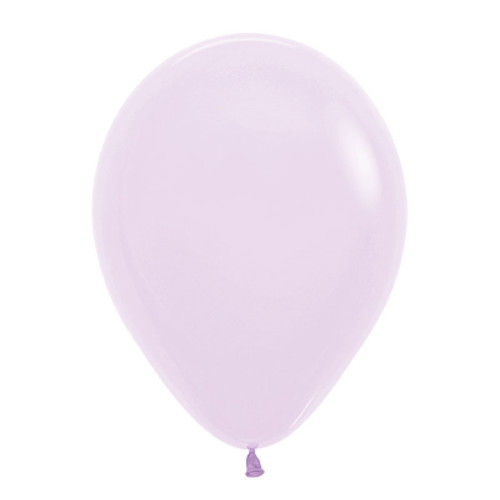 "18"" Macaron Pastel Matte Color Round Latex Balloon - Pastel Lilac"