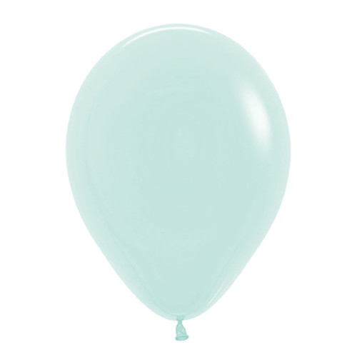 "18"" Macaron Pastel Matte Color Round Latex Balloon - Pastel Green"