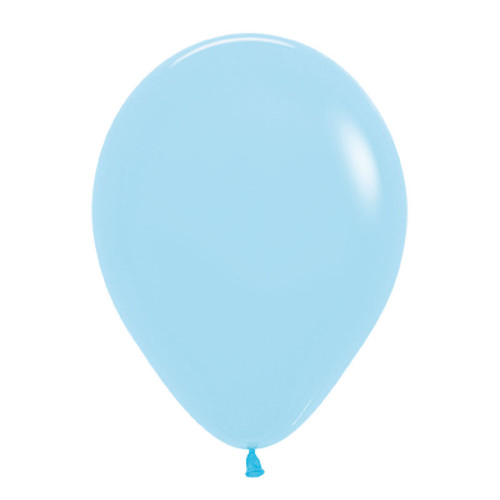 "18"" Macaron Pastel Matte Color Round Latex Balloon - Pastel Blue"