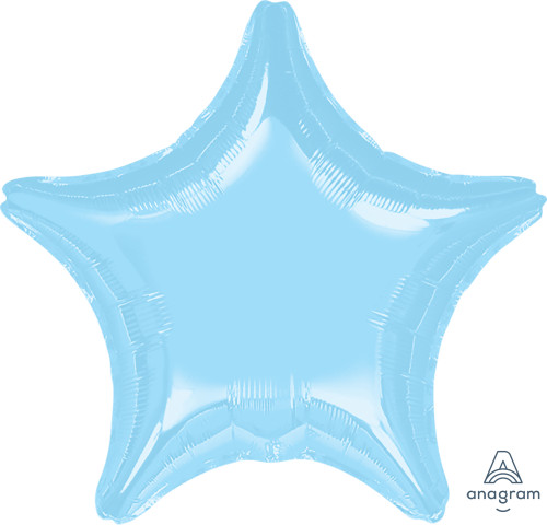 "19"" Star Foil Balloon - Metallic Pearl Pastel Blue"