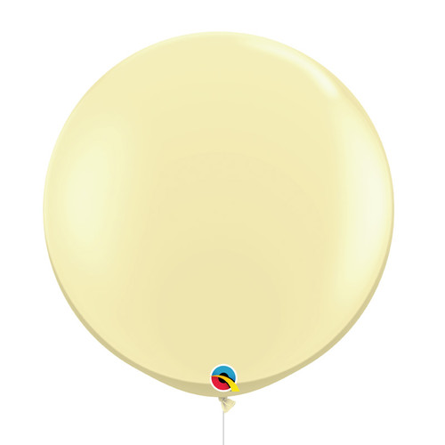 "36""/3Feet Jumbo Perfectly Round Latex Balloon - Ivory Silk"