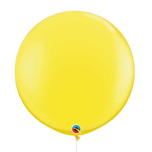 "36""/3Feet Jumbo Perfectly Round Latex Balloon - Yellow"