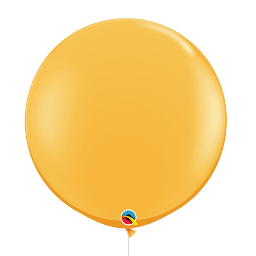 "36""/3Feet Jumbo Perfectly Round Latex Balloon - Golden Rod"