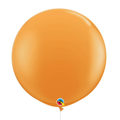 "36""/3Feet Jumbo Perfectly Round Latex Balloon Styled with 1 Tassel - Golden Rod"