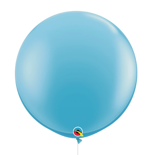 "36""/3Feet Jumbo Perfectly Round Latex Balloon - Pale Blue"