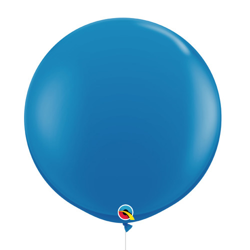 "36""/3Feet Jumbo Perfectly Round Latex Balloon - Dark Blue"