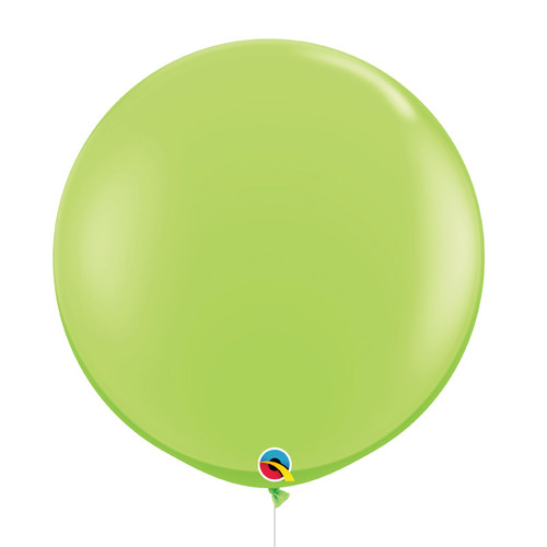 "36""/3Feet Jumbo Perfectly Round Latex Balloon - Lime Green"