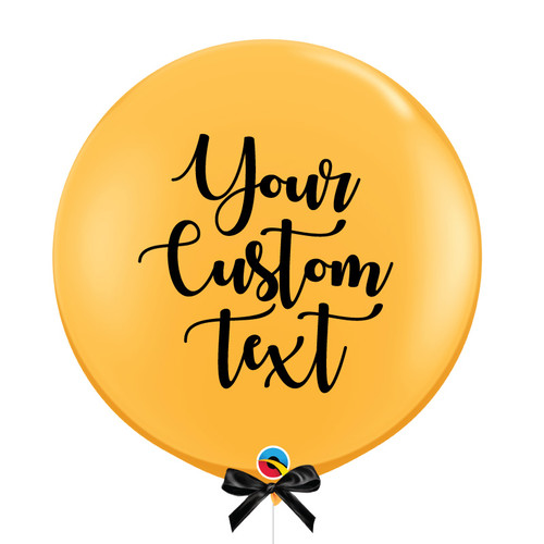 "36"" Personalised Jumbo Perfectly Round Latex Balloon - Golden Rod"