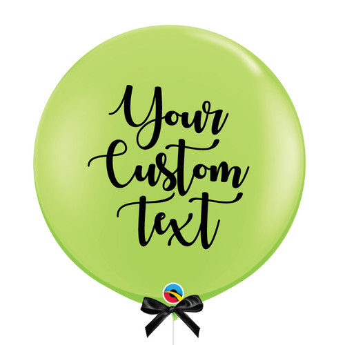 "36"" Personalised Jumbo Perfectly Round Latex Balloon - Lime Green"