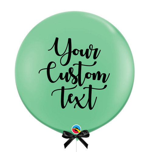 "36"" Personalised Jumbo Perfectly Round Latex Balloon - Wintergreen"
