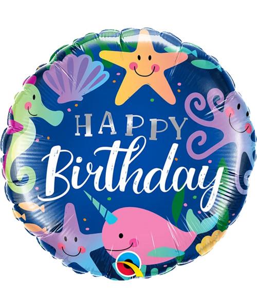 [Sea Creature] Birthday Fun Under The Sea Foil Balloon (18inch)