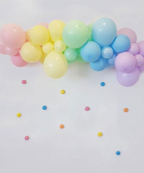 Create Your Own Macaron Pastel Rainbow Organic Balloon Garland