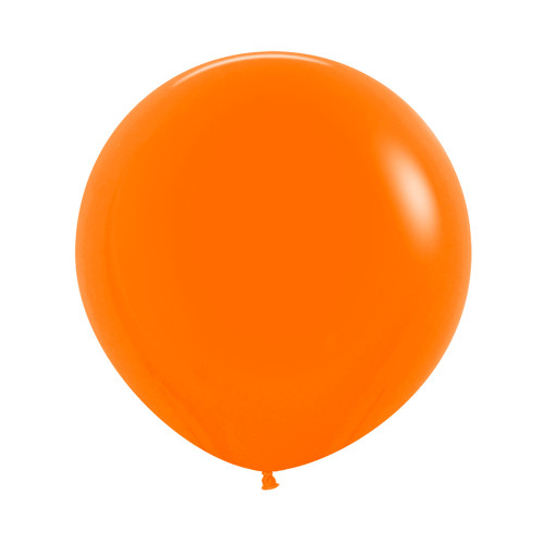 "[Oval Shaped] 36""/3 Feet Giant Round Latex Balloon - Orange"