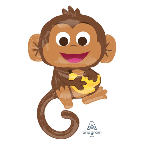 Happy Monkey Foil Balloon (36inch)