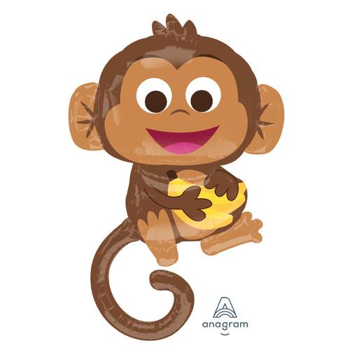Happy Monkey Foil Balloon (36inch)