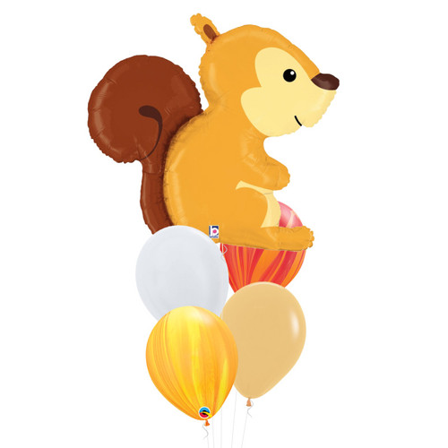 [Animal] Woodland Squirrel Marble Fun Balloons Bouquet