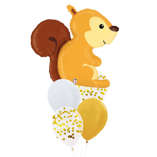 [Animal] Woodland Squirrel Confetti Fun Balloons Bouquet