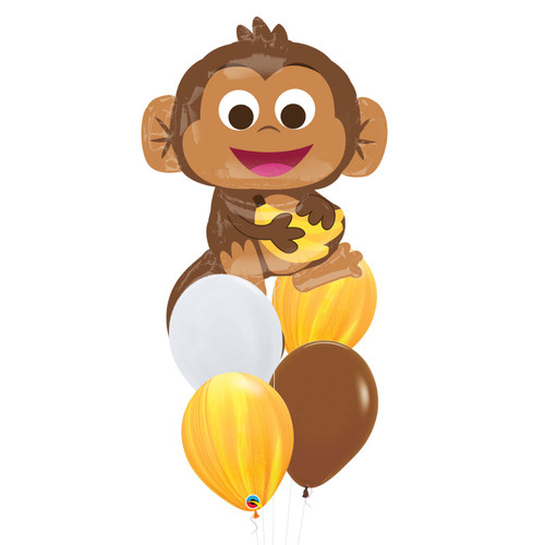 Happy Monkey Marble Fun Balloons Bouquet